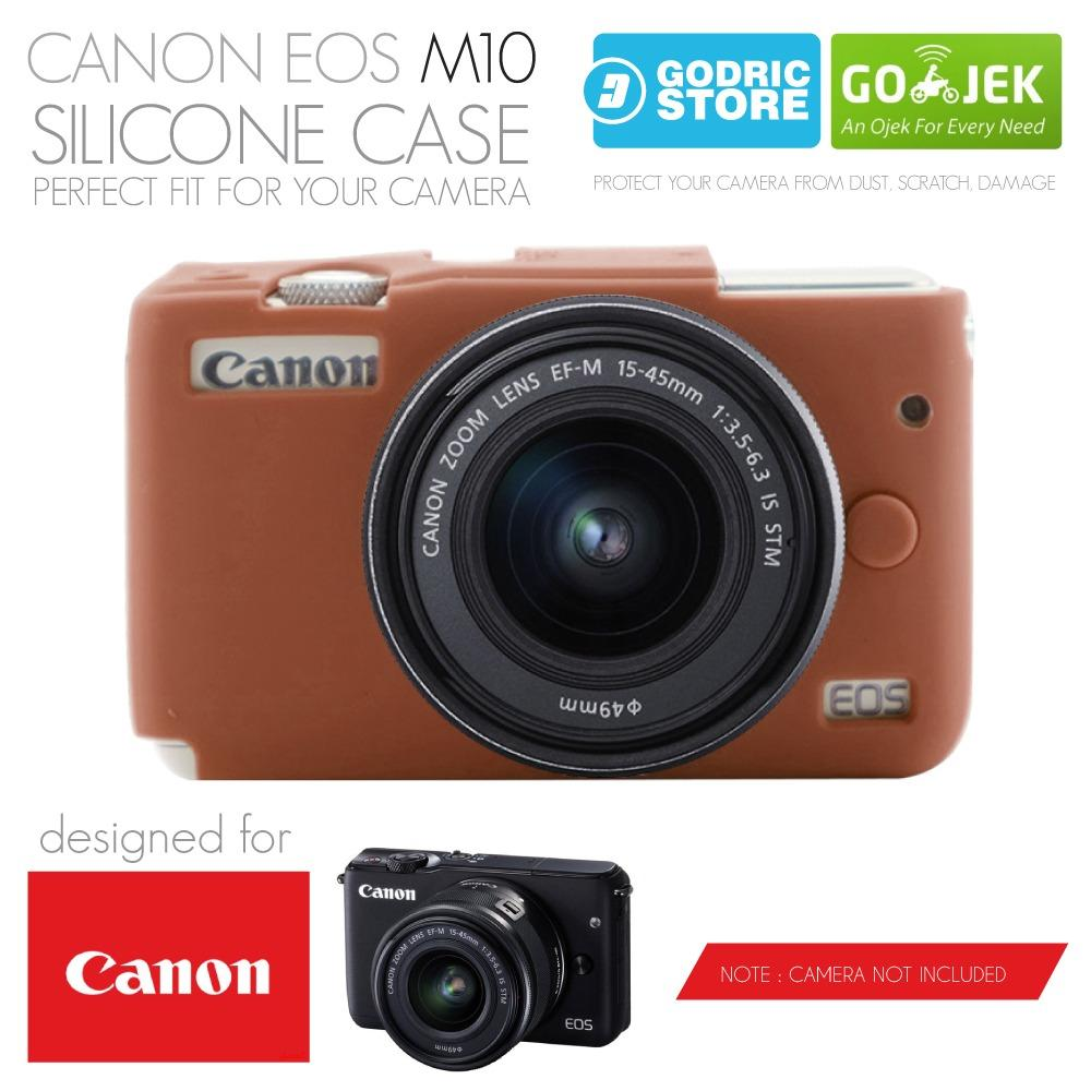 Godric Silicone Canon EOS M10 Silikon Case / Sarung Silicon Kamera Mirrorless - Coklat