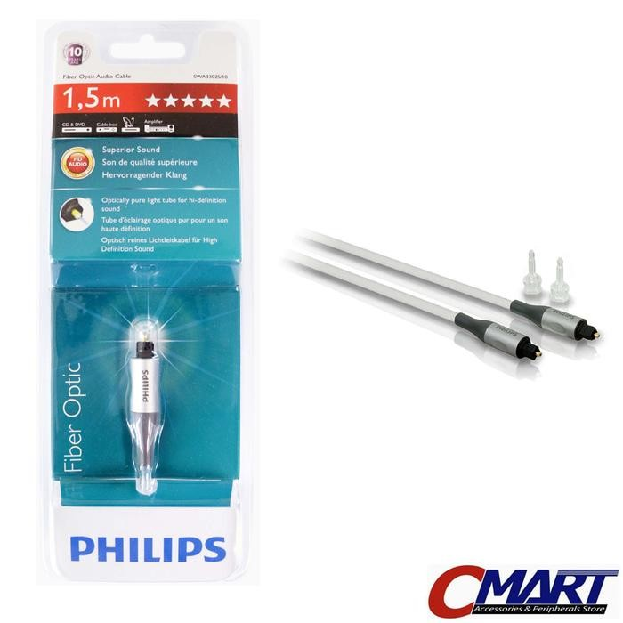 ORIGINAL - Philips SWA3302S Fiber Optic Audio Cable 1.5m Kabel Original