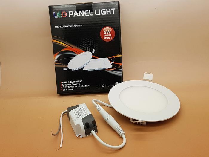 ORIGINAL - Led Panel 6 watt  light Model BULAT Merk SANLY ( NYALA SUPER BRIGHT )