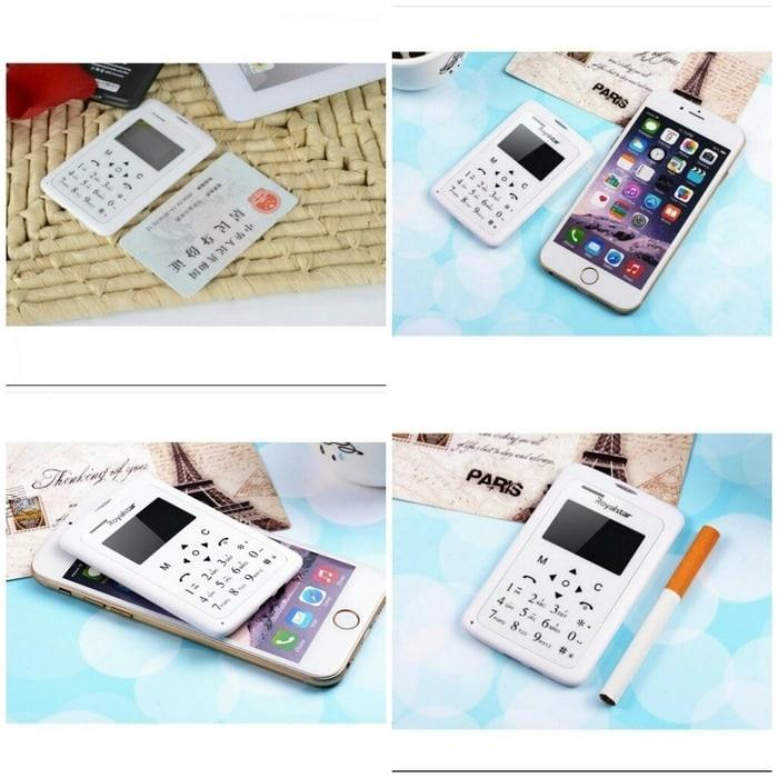 HP Handphone ponsel terkecil Mini Kecil Ringan ukuran Kartu Kredit