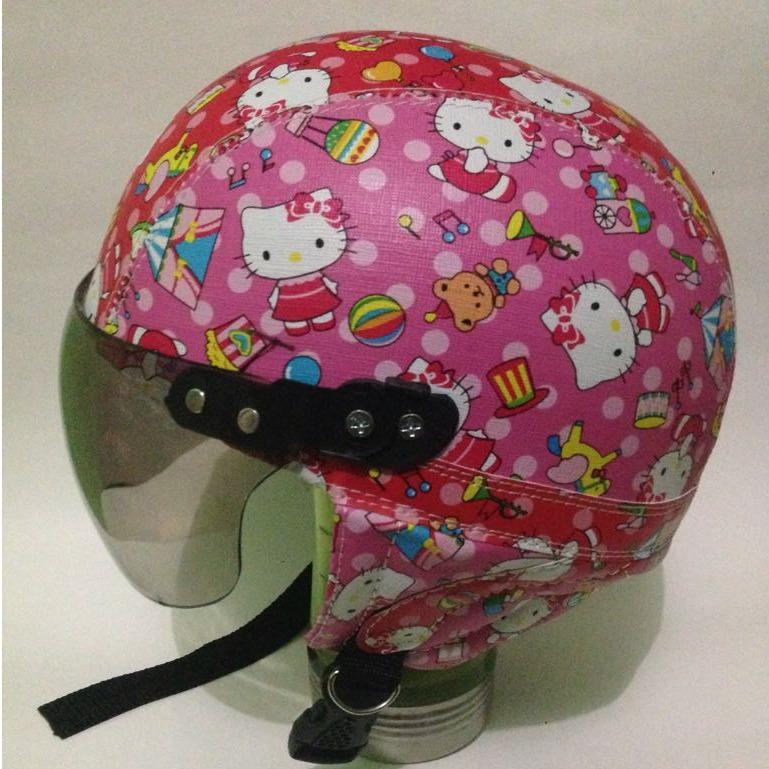 broico helm anak anak retro unyu-unyu hello kitty batik usia 1 sampai 5 tahun