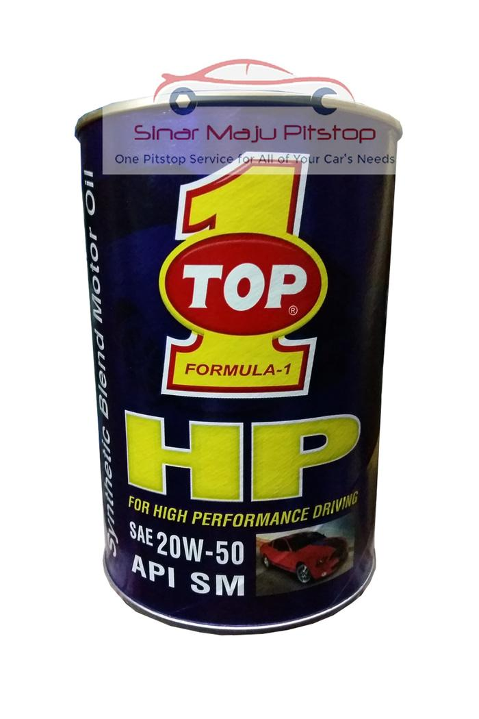 Top One Synthetic HP Oil SAE 20W-50 - Oli Mobil Bensin 1L Original USA
