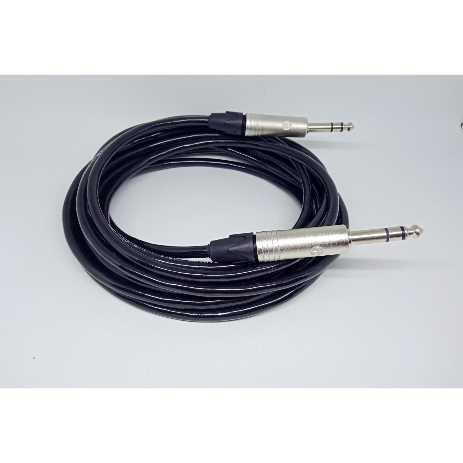 kabel Gitar 6,5mm to 6,5mm jack stereo canare 5m full High Quality
