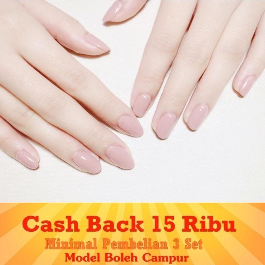 JBS Nails A150 Kuku Palsu Peach 3D Nikah Wedding False Fake Nail Nails Nailart Pengantin