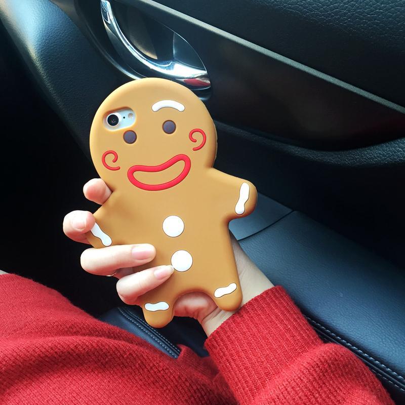 OPPO Gingerbread Manusia Hari Natal Selubung Lunak Silikon Bungkus Penuh Anti Jatuh