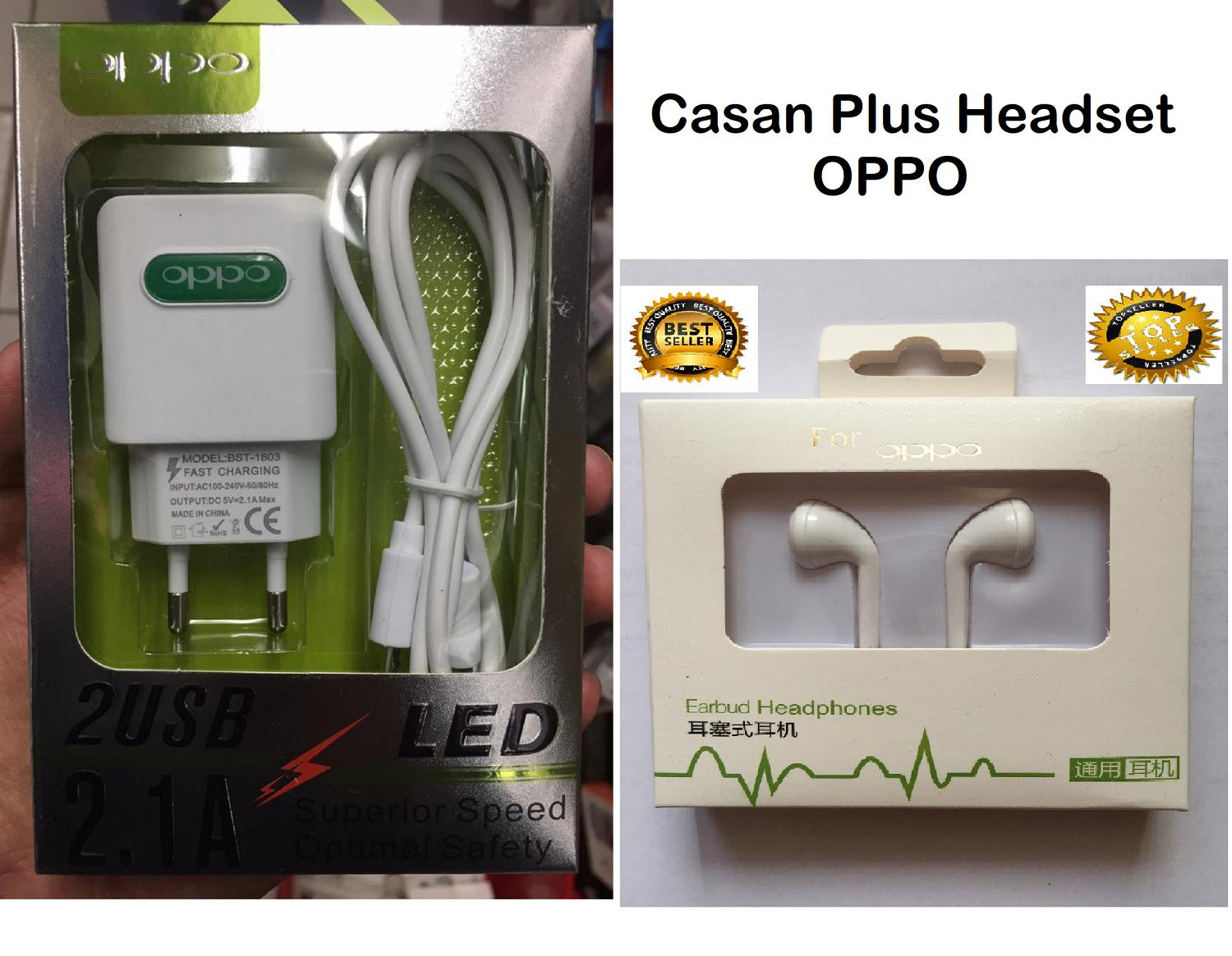 Charger Carger Casan Chasan Cas HP OPPO 2A VOOC F1S F3 F5 F7 F9 A37 A83 A71 A39 A59 A33 A57 F1 F1 PLUS FIND 7 GRATIS FREE HEADSET HANDSET HEDSET_MGM27