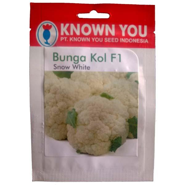 Known You Seed Snow White - Benih Bunga Kol F1-5 gram