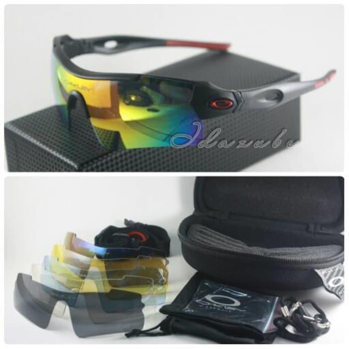 Hemat 10%!! Oakley Magnum 3 Lensa Hitam Merah Kacamata Pria - ready stock