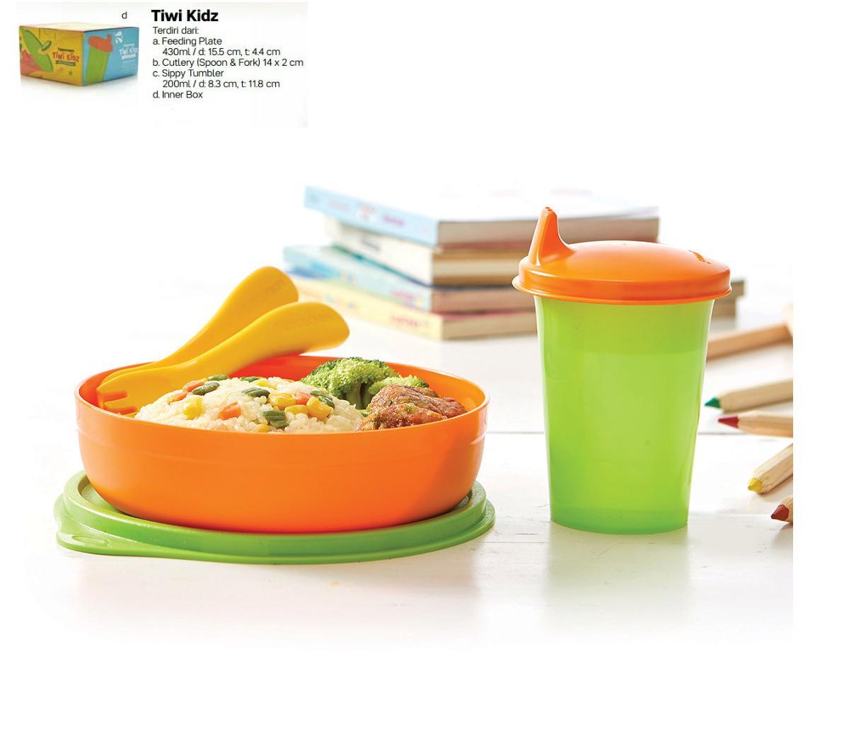 Tupperware Tiwi kids set - alat makan set untuk bayi