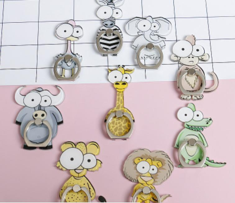Iring Ring Holder Handphone Karakter HP Cartoon Zoo QX11