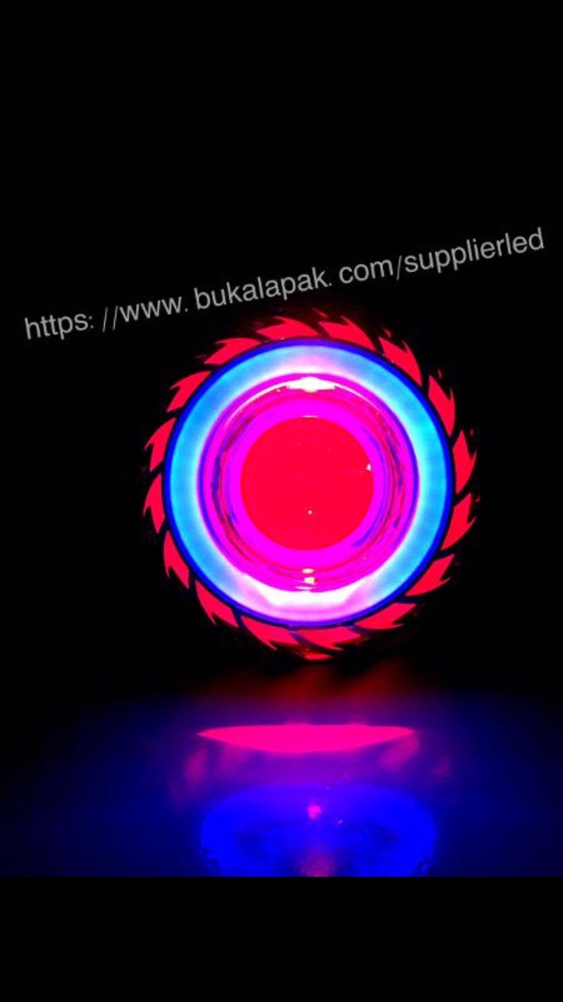 Bohlam Led Hid Motor Terbaru Lampu Senja T10 Jelly Silicon Rgb Remote Projie Tonado Double Ae De Blue Red