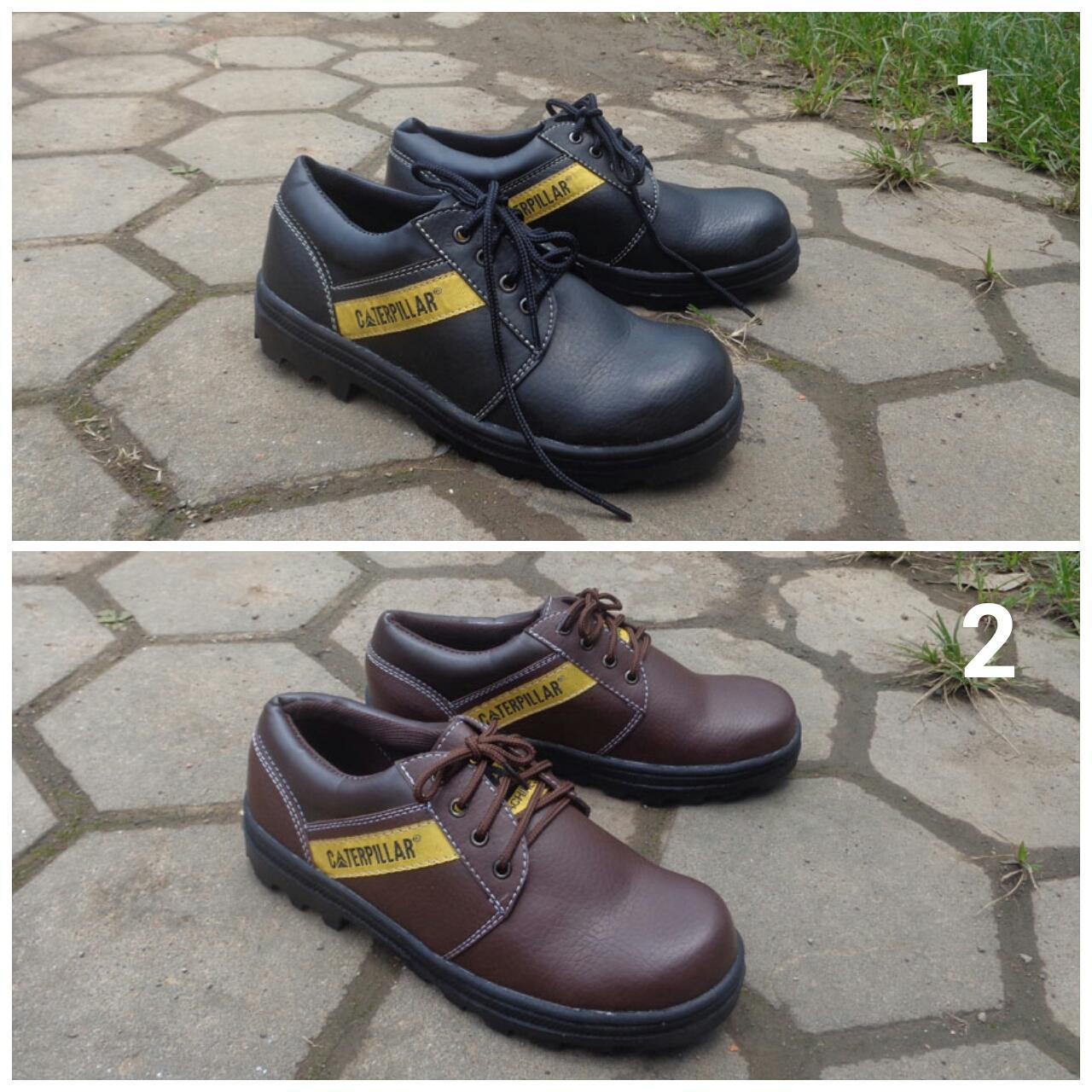 Bestseller Sepatu Caterpillar Safety Pendek Kalio Bahan Licin Paling Laku
