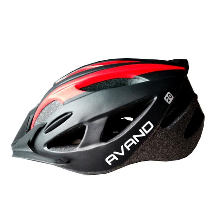 Helm Sepeda Avand Tipe A20 warna Merah Hitam