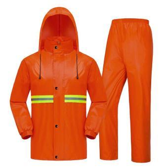 Beli sekarang Sanitasi Double-layer Jas Jas Hujan Night Light Split Raincoat (Oranye)