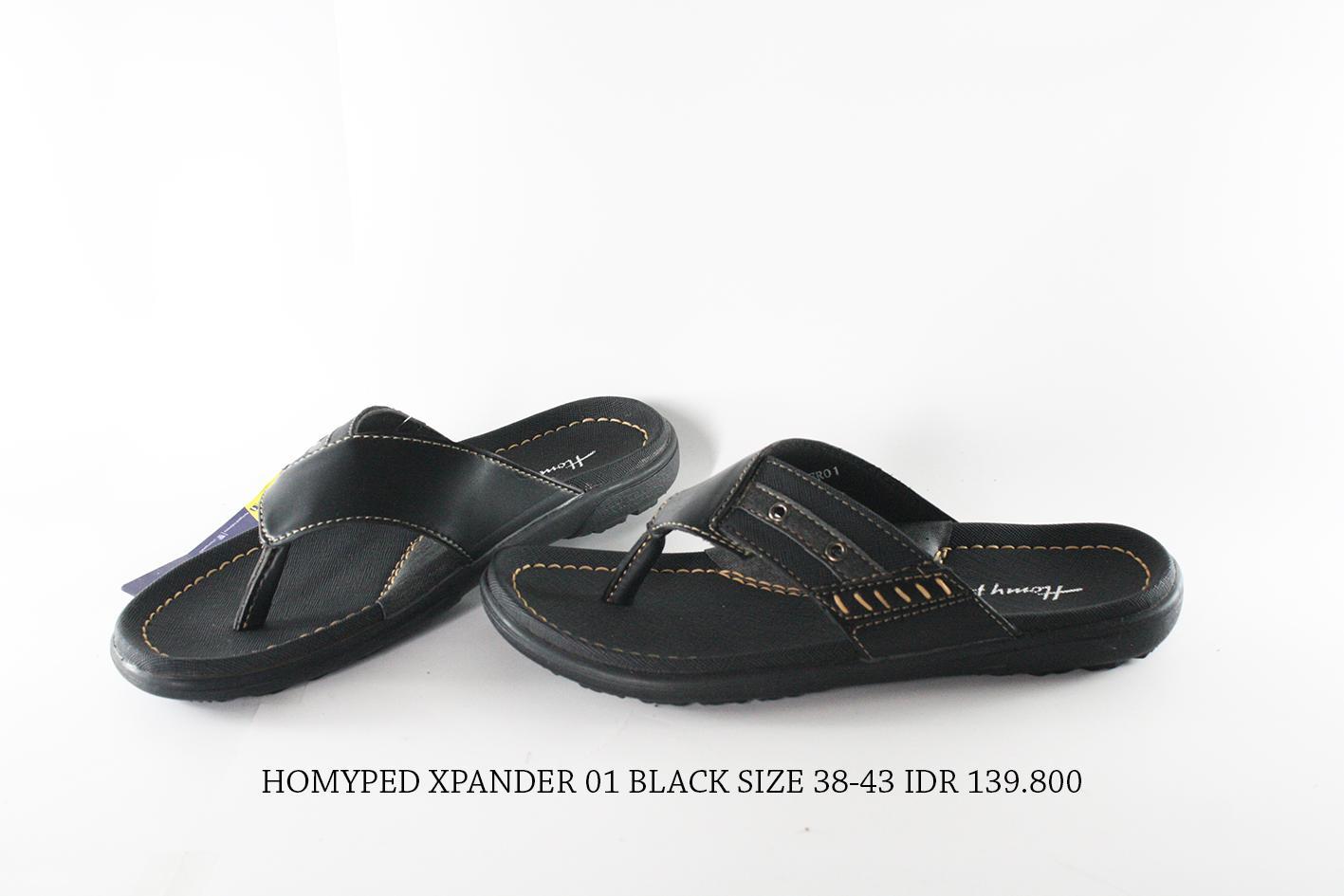 homyped xpander 01 sandal jepit pria hitam