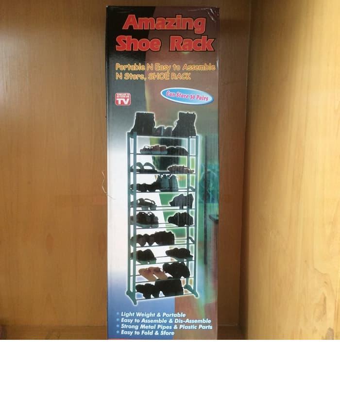 Amazing Shoe Rack - Rak Sepatu Sandal Susun Tingkat