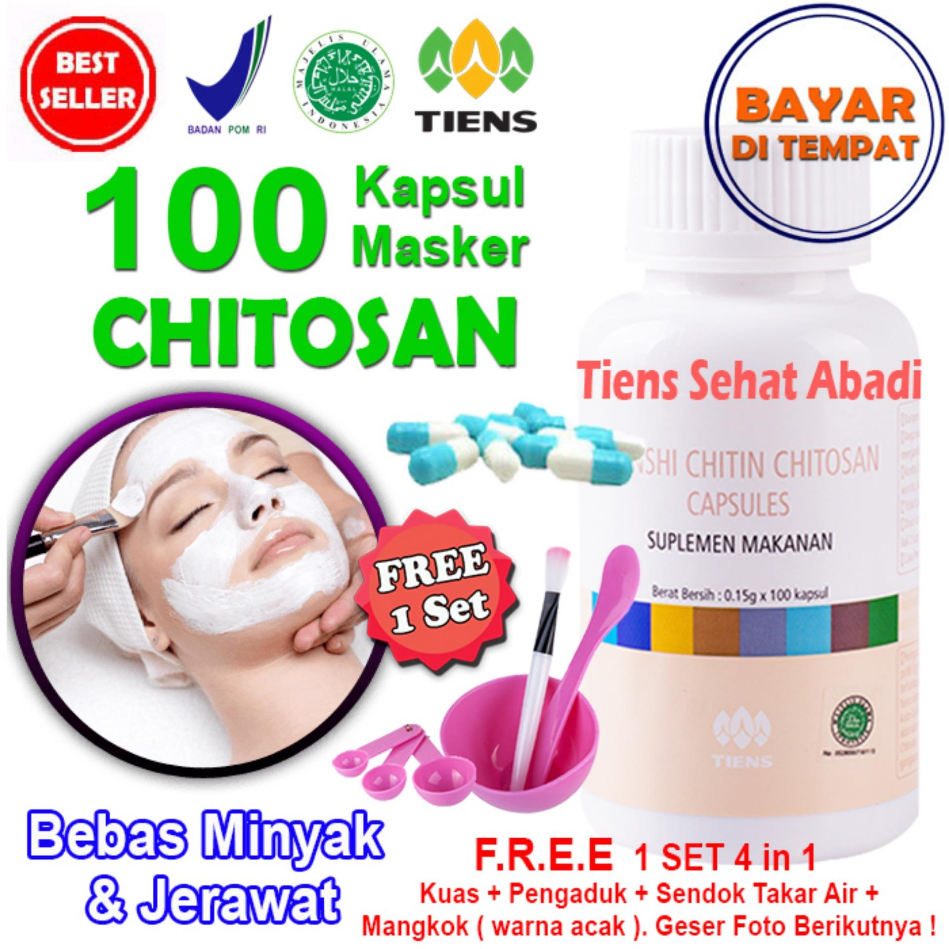 Masker TIENS Chitosan Herbal Anti Jerawat - isi 100 Kapsul | Acne cream | Acnes uv tint | Acnes creamy wash | Acnes foaming wash | Acnes point clear | Obat jerawat ampuh | Obat jerawat alami | Obat jerawat herbal |