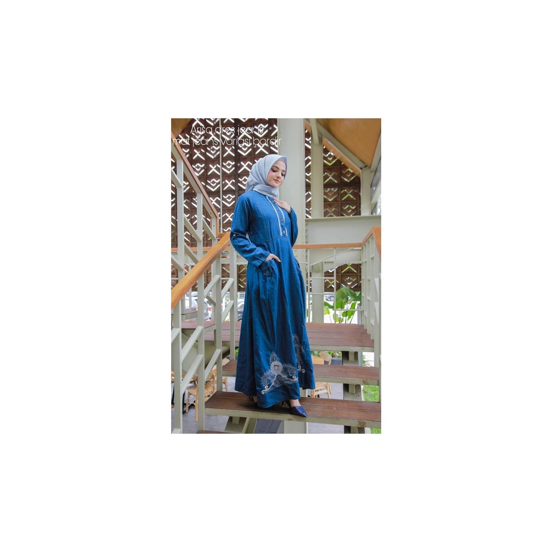 af2c0854c87135a79c7043a6b6e26ed3 Koleksi Harga Gamis Syari Jeans Termurah bulan ini