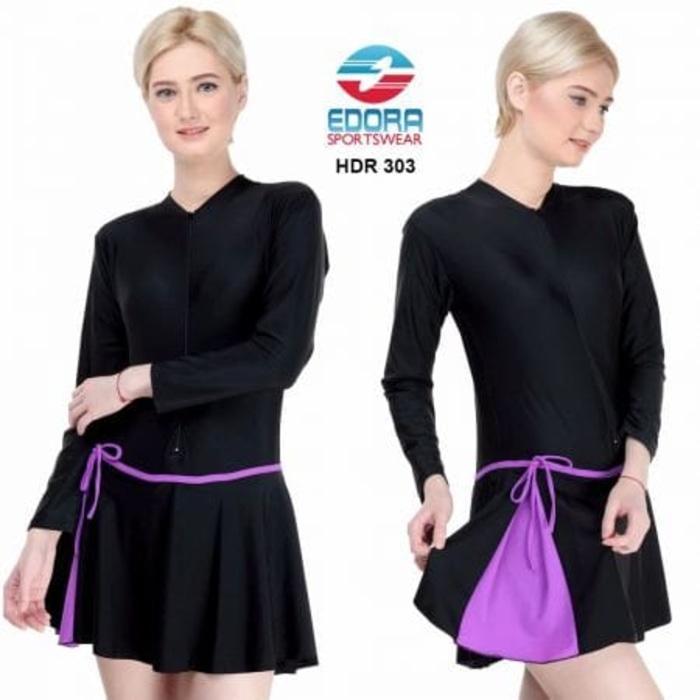 HARGA PROMO!!! Baju Renang Wanita Rok Dewasa Tangan Panjang - M9hs0i