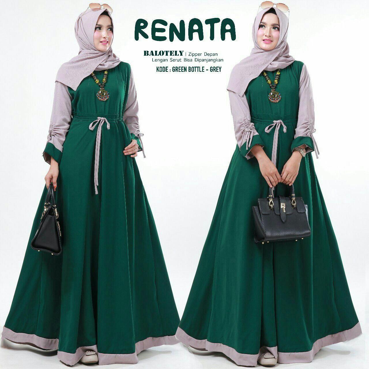 HoneyClothing Dress Muslim Renisa // Baju Muslim // Gamis Muslimah // Gamis Trendy