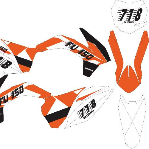 Stiker Motor Ktm 85 Sx Decal Grade B By Master Decal.