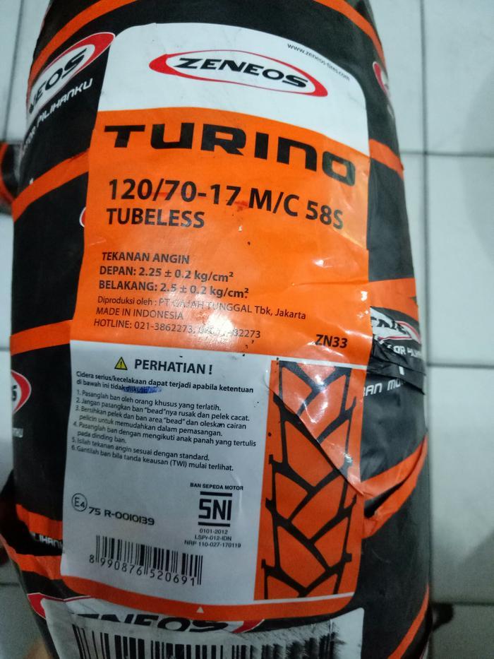 Ban Motor Zeneos 120/70-17 Turino ZN33 Tubeless