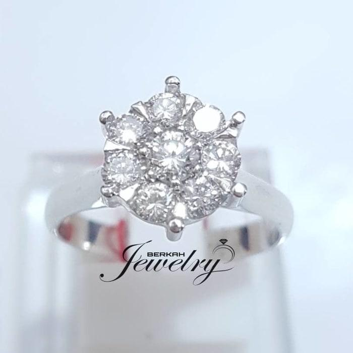 Cincin EMAS BERLIAN Giwang Gelang Anting Liontin NATURAL DIAMOND ASLI