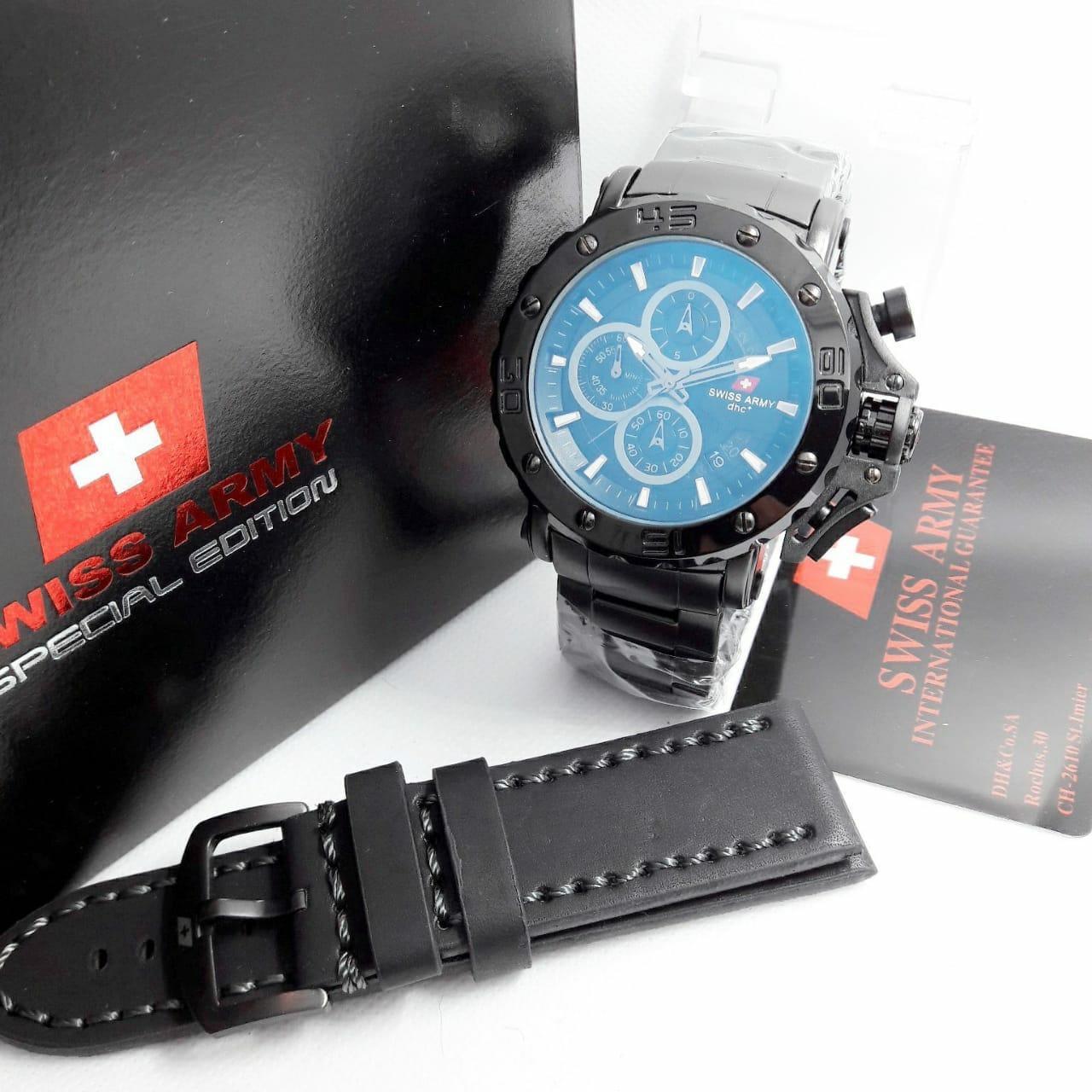 Swiss Army Sa9205 - Jam Tangan Original 100% Fashion Pria - Fiture Chronograph Active -