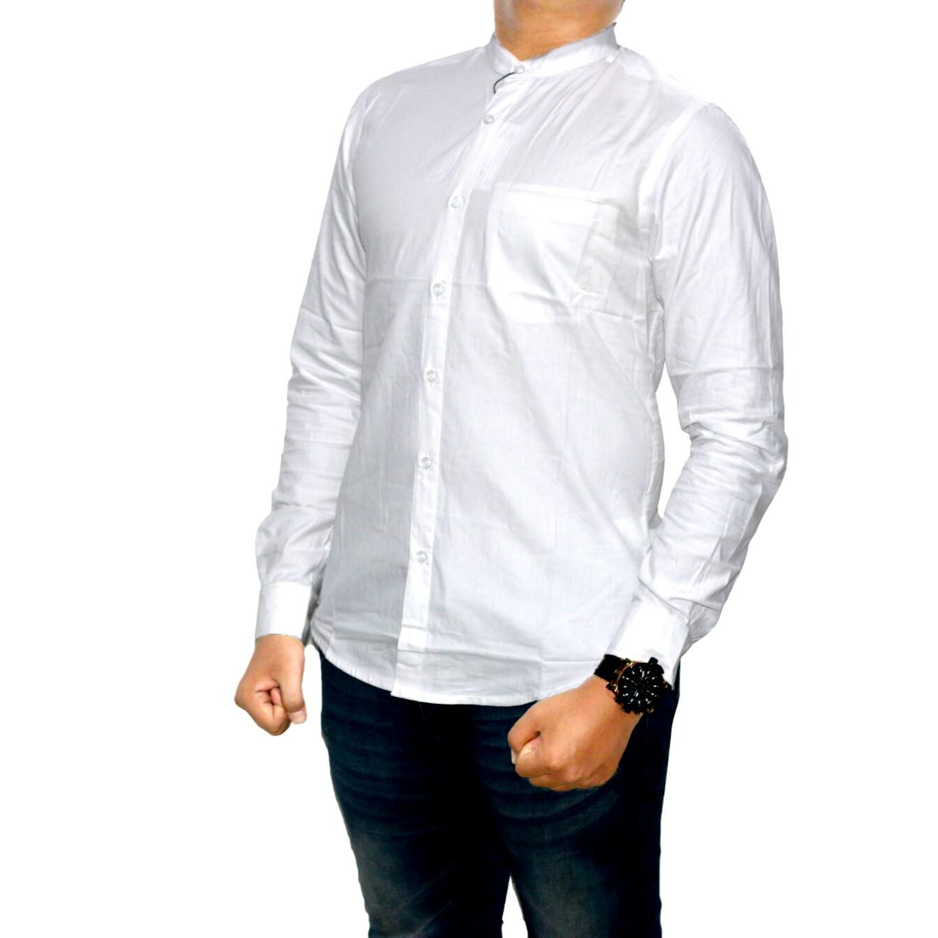 Dgm_Fashion1 Kemeja Putih Polos Kerah Sanghai Oxford/Kemeja Denim/Jeans Pria/Kemeja Polos/Kemeja Retro/Kemeja Distro/Baju Distro/Kemeja Flanel/Kemeja Pendek/Kemeja Panjang/Kemeja Casual/Kemeja Kantoran/Kemeja HEM/Kemeja Murah PS 4398