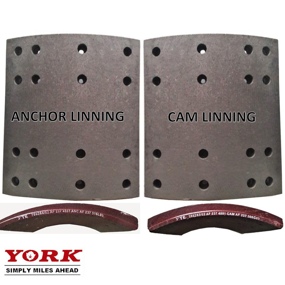YORK Brake Set Anchor & Cam Lining Kampas Rem Truck Trailer Indonesia