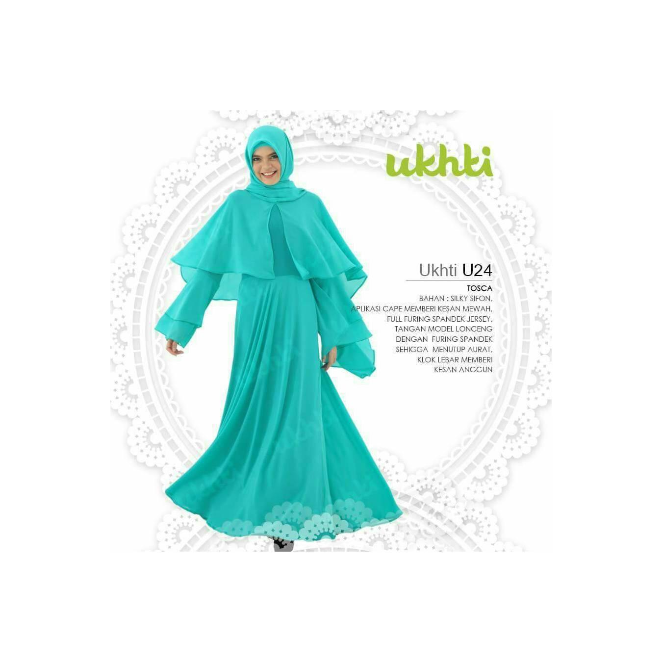 PROMO! Gamis Ukhti U 24 Size XL Bahan Silky Sifon