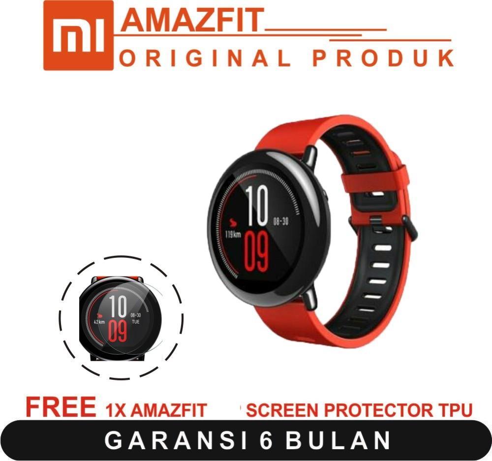 Xiaomi Amazfit Smartwatch International Version with GPS and Heart Rate Sensor - 100% English Version - GARANSI RESMI + FREE ANTI GORES