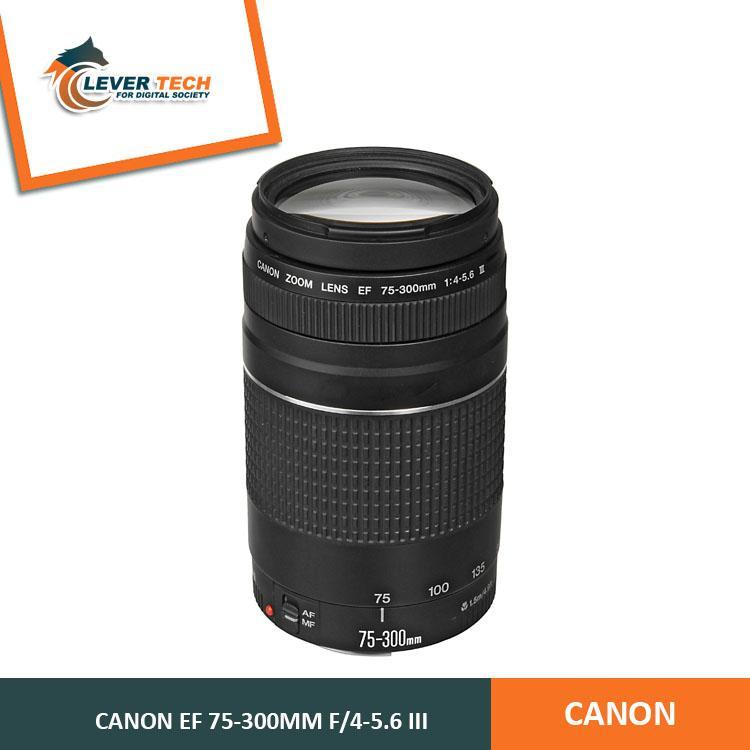 Canon EF 75-300mm f/4-5.6 III - Hitam