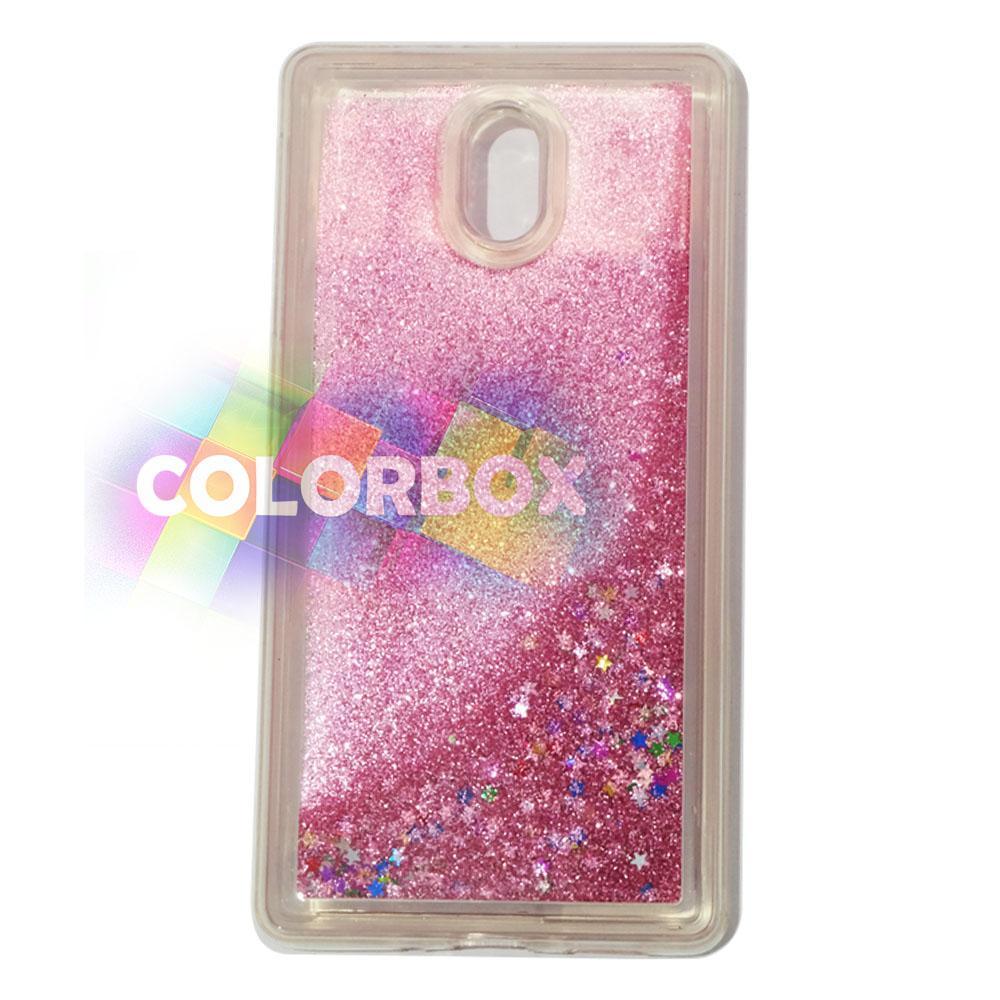 MR softshell Water Glamour Nokia 3 / Soft Case Glitter Nokia 3 / jelly Casing Nokia 3 / Silikon Case Hp / Case Water Glitter - Pink Muda