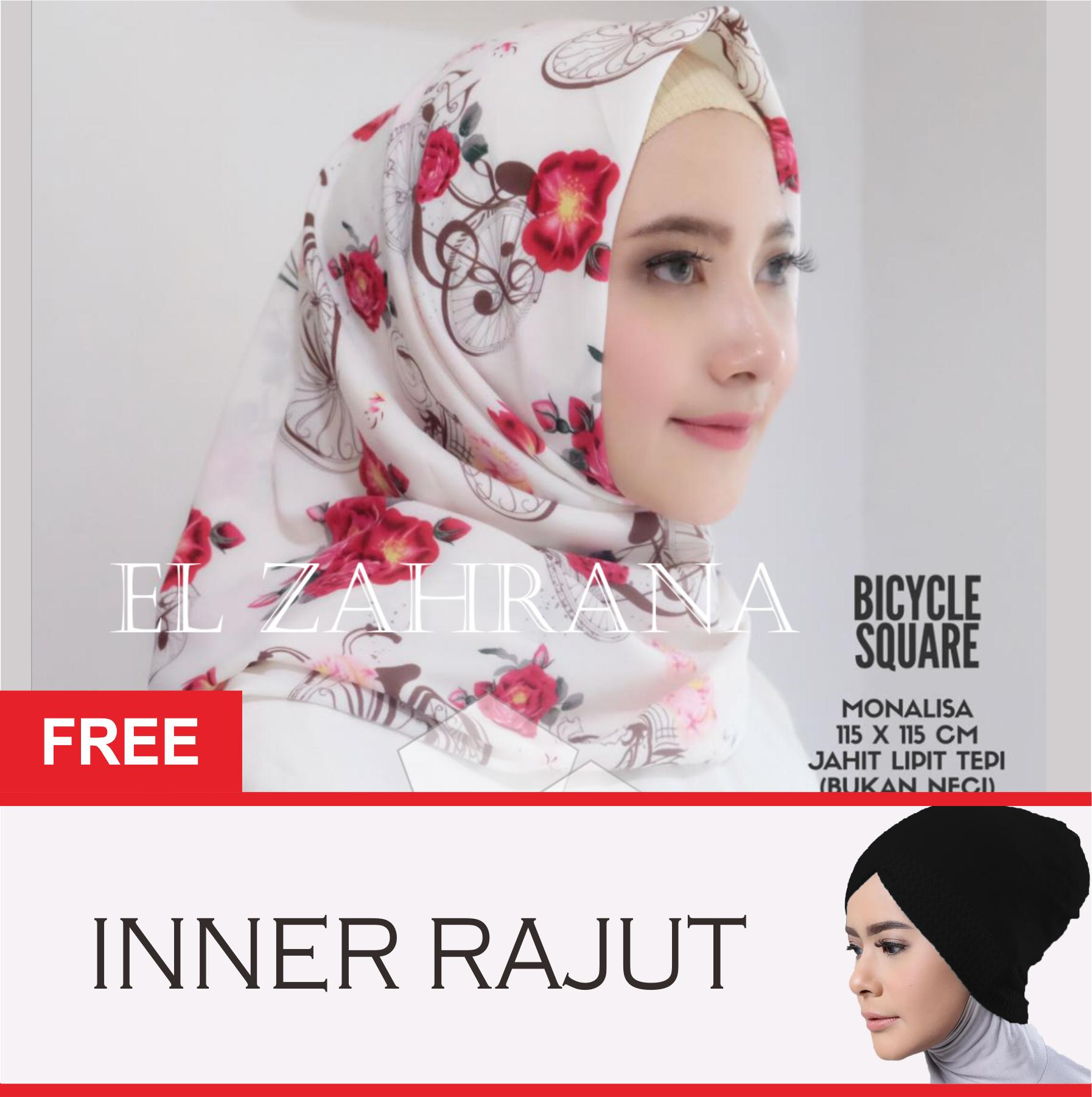El Zahrana Kerudung Segi Empat - Hijab Segi Empat - Hijab Motif - Jilbab Segi Empat
