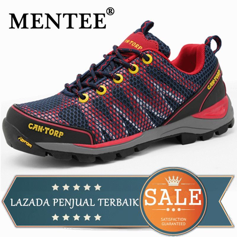 MENTEE Ukuran 36-44 Pria Dan Wanita Sepatu Trekking Sepatu Hiking Luar  Ruangan Bernapas Mendaki 95cd61b515
