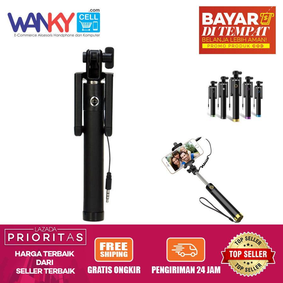 Tongsis Kabel Holder Lipat Full Monopod For Smartphone & Camera - Black