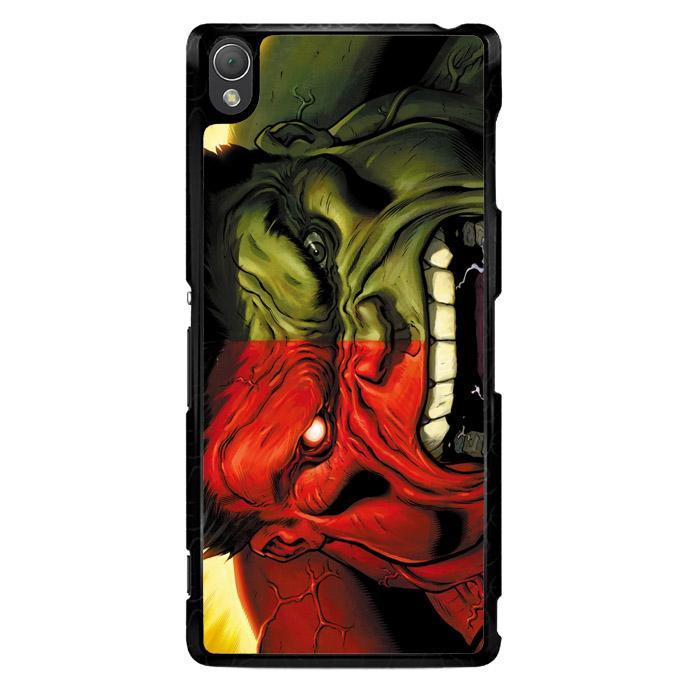 Red Hulk Vs Green Hulk F0212 Sony Xperia Z3 Custom Hard Case