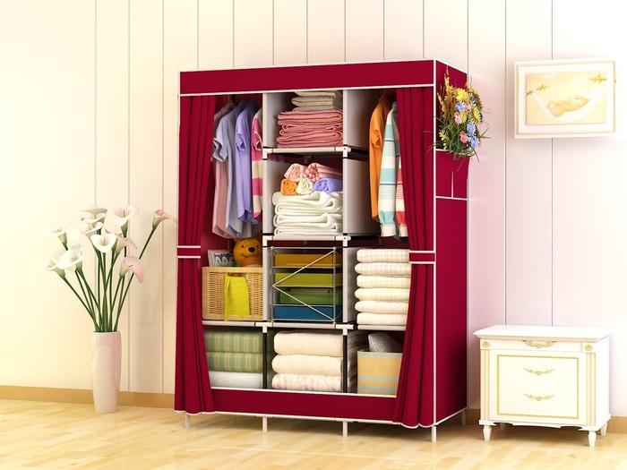 Lemari Pakaian / Lemari Portable / Lemari Pakaian Murah / 028cx lemari rak pakaian jumbo lemari baju cloth rack