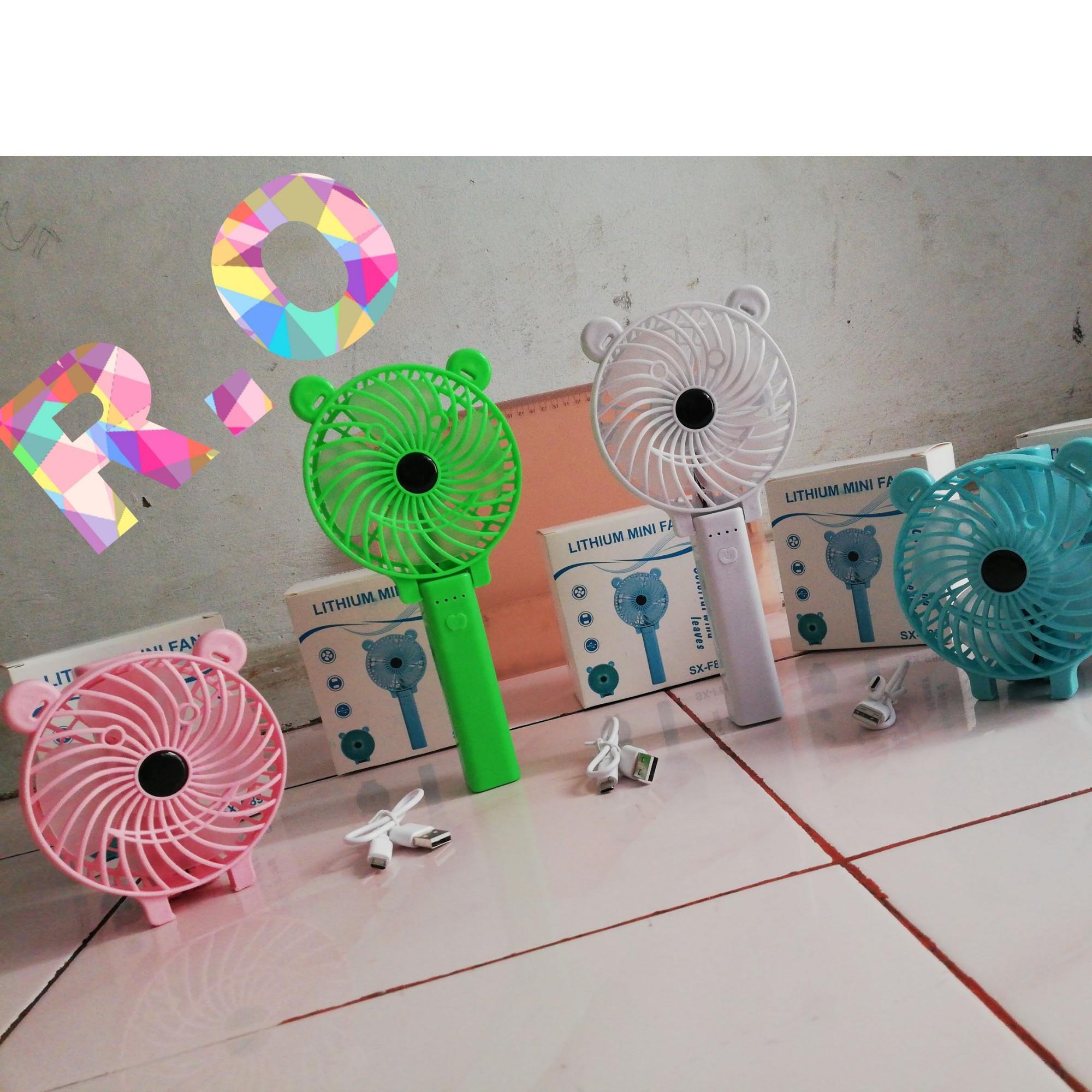 Paling Unik Kipas Angin Tangan Portable -- Mini Hand Fan (colorful wind leaves)