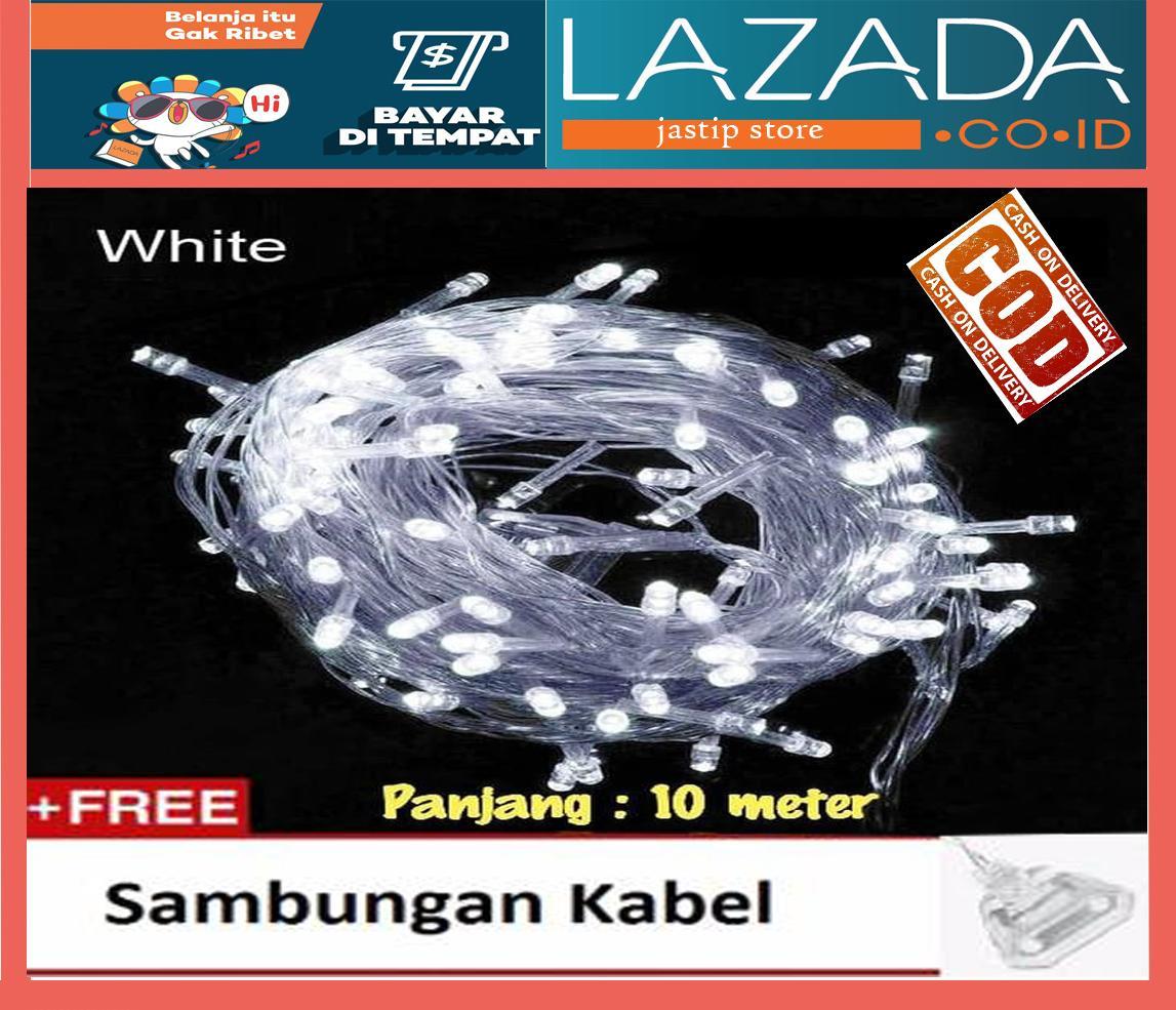 Rp 23.000. Lampu Tumblr Hias LED 10 Meter Putih + Free Colokan Sambungan Kabel ...
