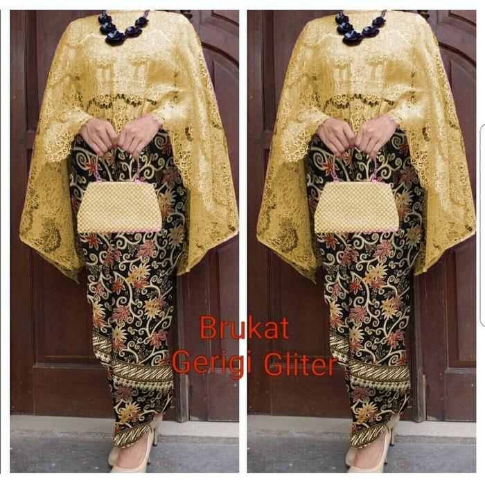 Debbie Gallery Maxi Dress Lengan Panjang HITAM / Kebaya Modern / Gamis / Gaun Pesta Muslimah / Baju Muslim Wanita / GPS