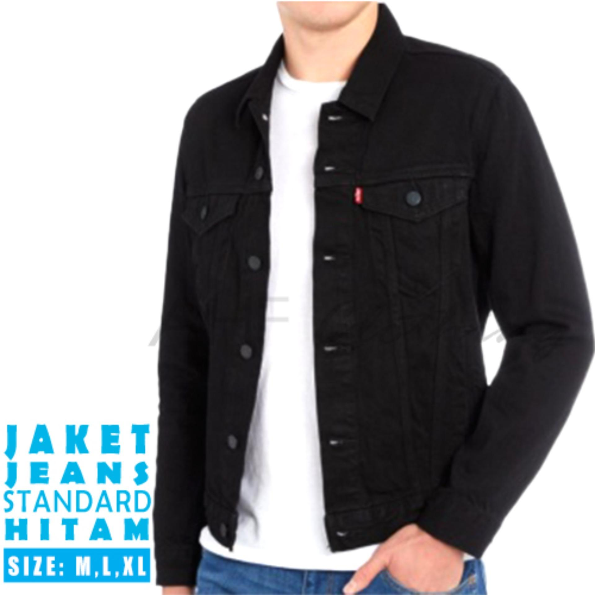 AHF Jaket Jeans Denim Pria - Hitam a7a66d9afd