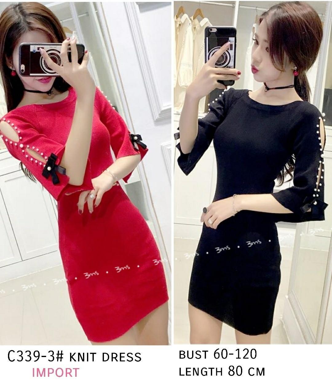 Princess Wardrobw - Gracia Knit Dress Import / dress wanita / dress import / Dress fashion / Dress Korea