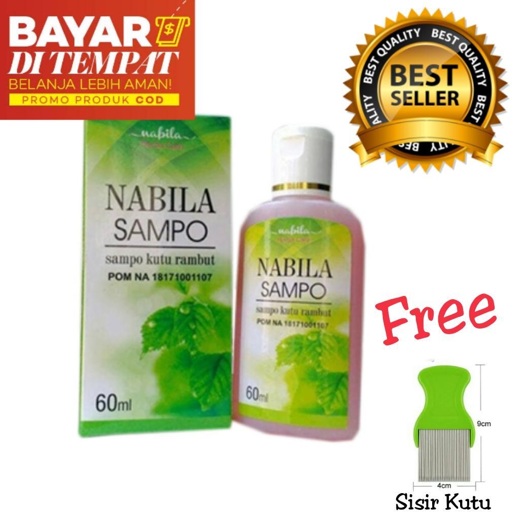 Sampo Nabila / Nabila Shampo / Sampo Kutu Rambut Herbal / Pembasmi Kutu dan Telur Kutu / Free Sisir Kutu Stainless / Serit