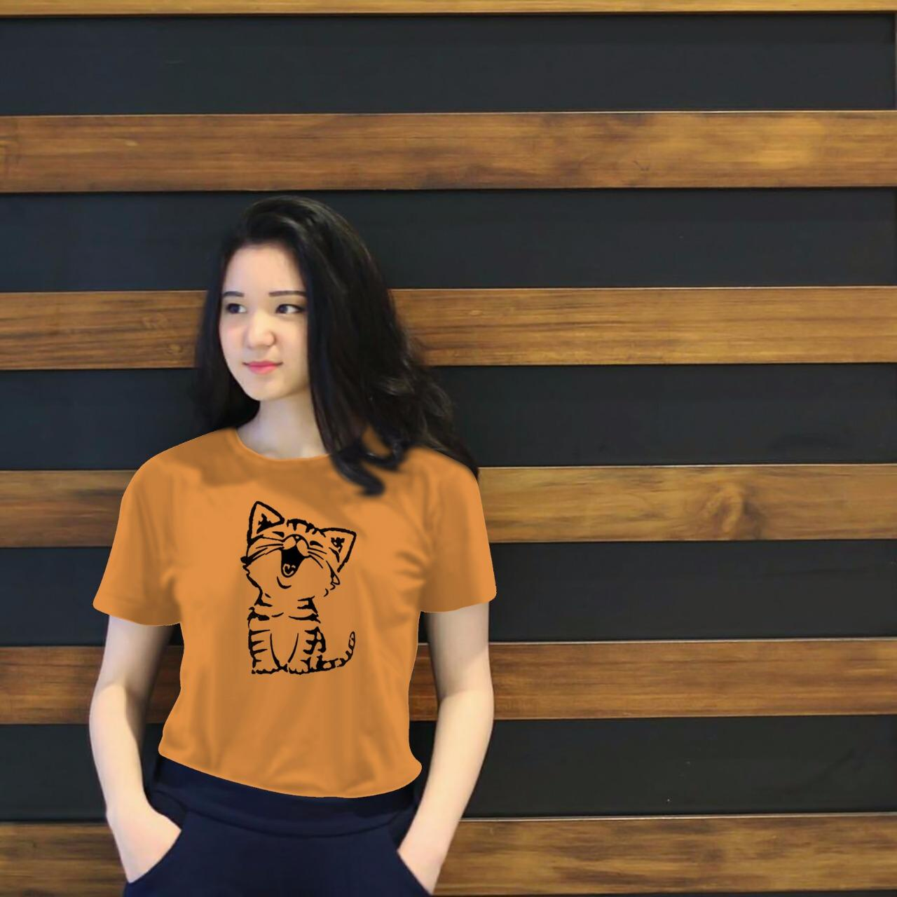 Maestro fashion Tumblr Tee kucing / T-Shirt Tumblr Tee / T-shirt Wanita