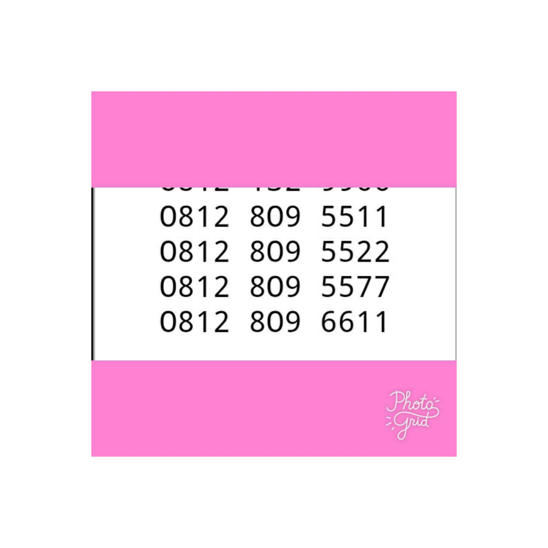 kartu perdana Simpati 11digit hoki double 0812 809 5511 5522 5577 .