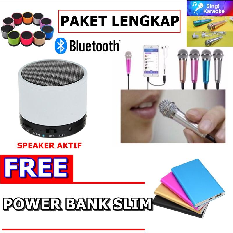 Rp 99.000. Speaker Bluetooth S10 Big Bass + Microphone 2in1 With Headset 3.5mm Accessories Smule & Karaoke ...