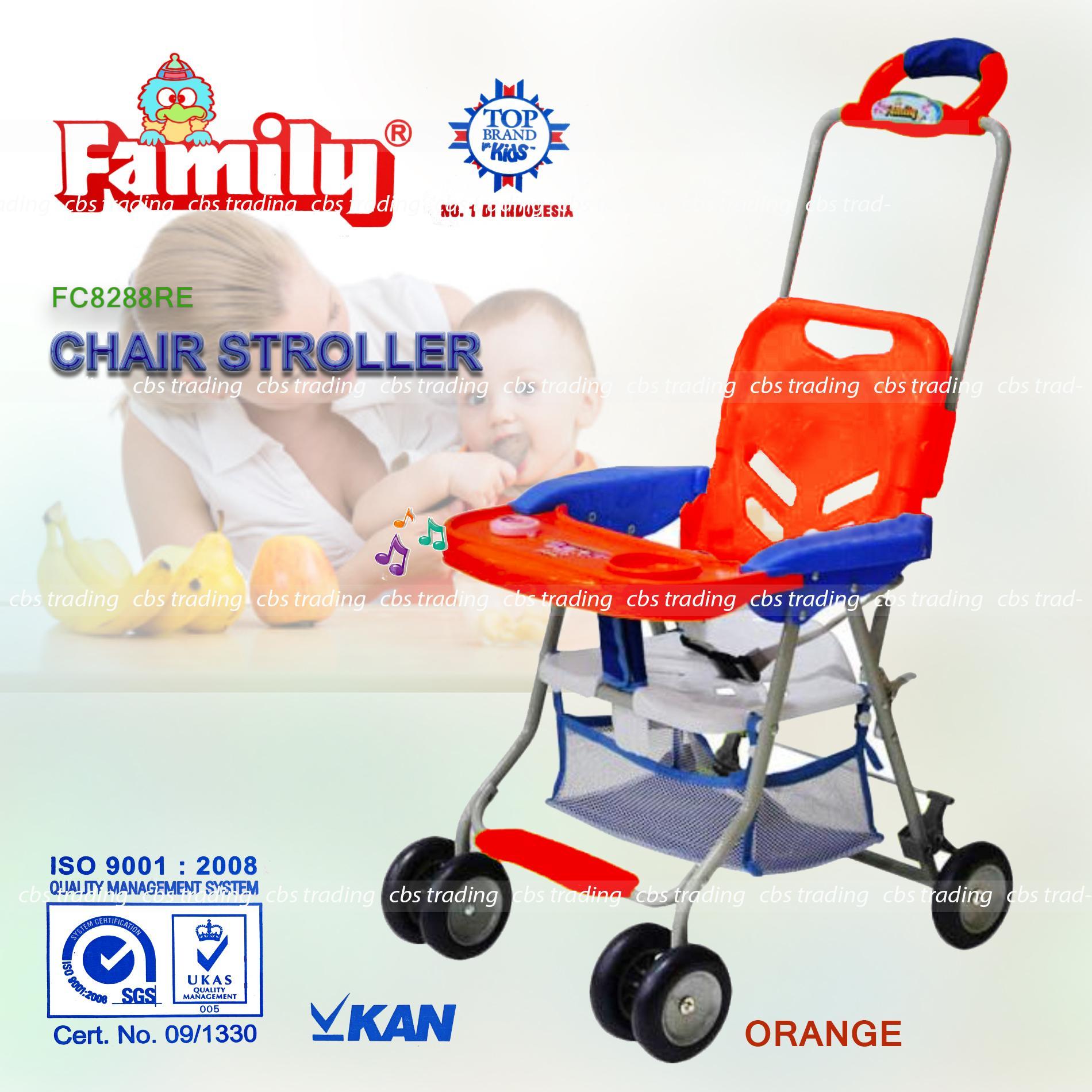 Family Chair Stroller 8288 - Kursi Makan - Baby Stroller - Orange