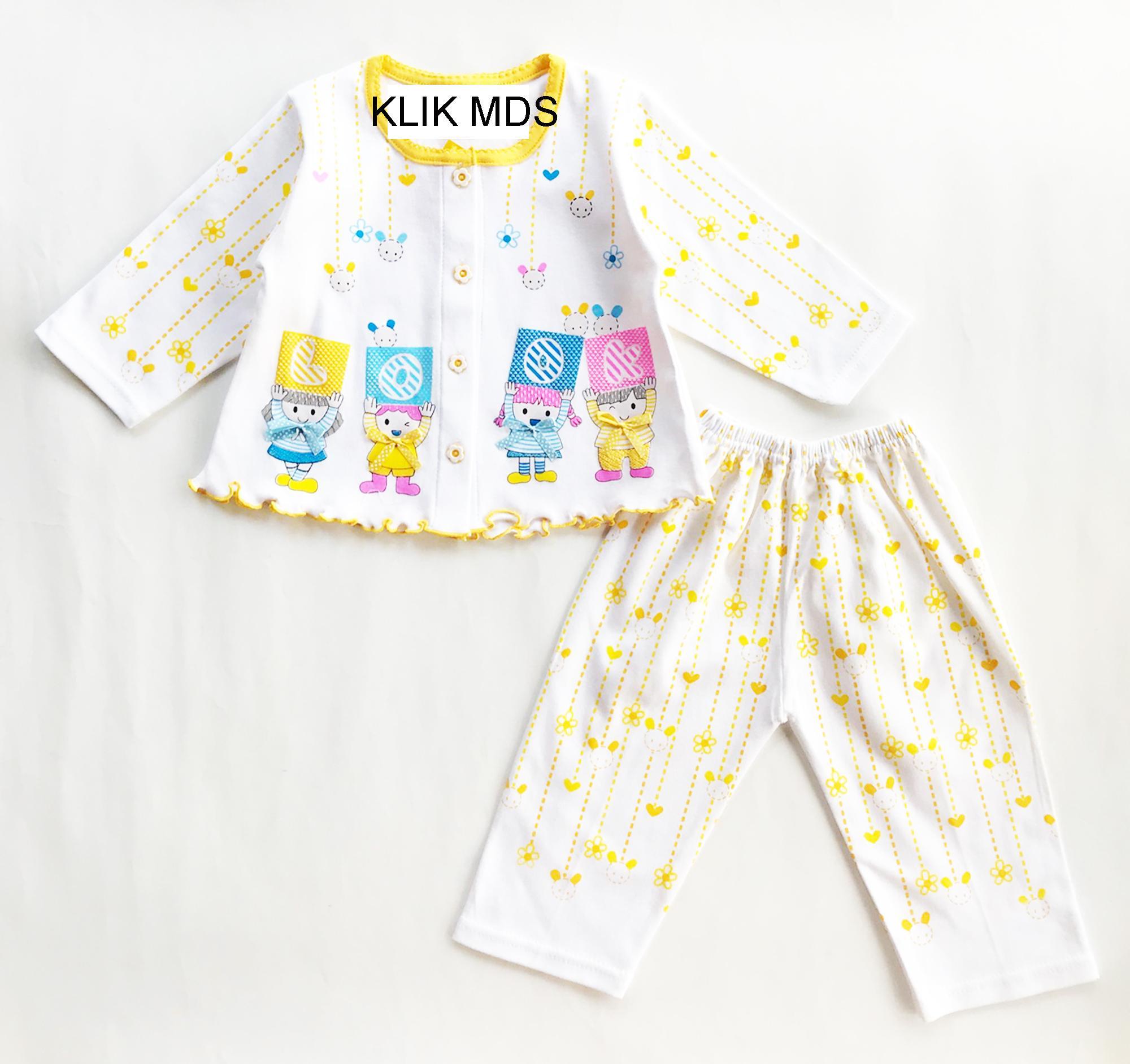Baju Tidur Bayi Perempuan Piyama Anak Baby 1 3thn Lovely Cow Setelan Laki Klik Mds Motif Look Boy Girl Tangan Panjang Celana